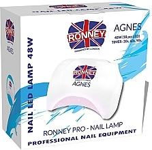 Profumi e cosmetici Lampada LED per unghie, bianca - Ronney Profesional Agnes Pro LED 48W (GY-LED-032)