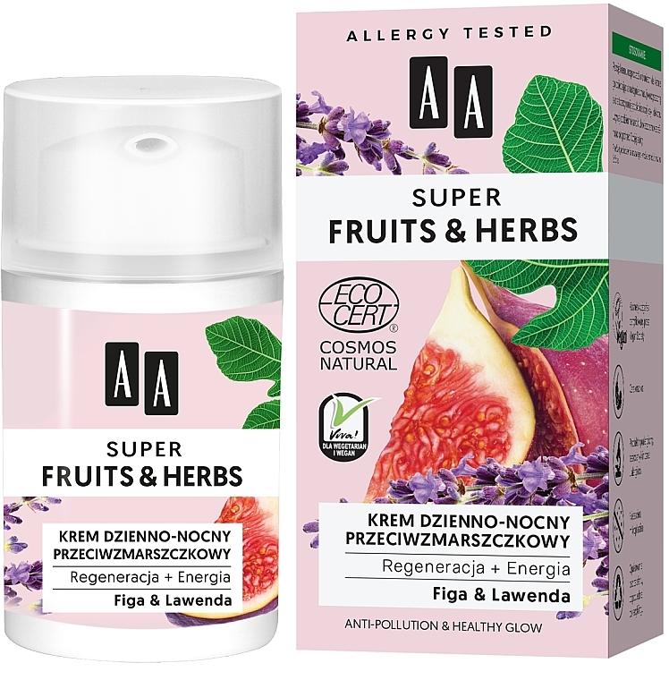 Crema antirughe, da giorno e notte - AA Super Fruits & Herbs