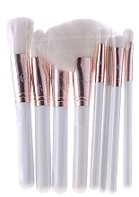 Profumi e cosmetici Set pennelli per il trucco con beauty case, bianco - Contour Cosmetics (makeup/brushes/8pcs. + bag)