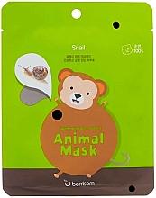 Profumi e cosmetici Maschera in tessuto alla bava di lumaca - Berrisom Animal Mask Snail Series Monkey