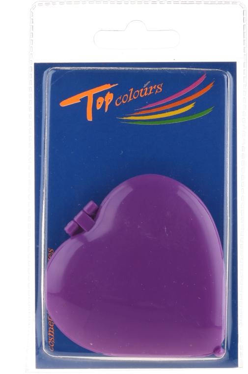 """Specchietto compatto """"Cuoricino"""" 85550, viola - Top Choice Colours Mirror — foto N1"""