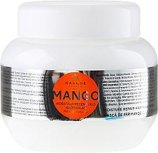 Profumi e cosmetici Maschera capelli idratante all'olio di mango - Kallos Cosmetics Mango Hair Mask
