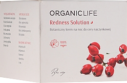 Profumi e cosmetici Crema da notte per la pelle incline alla rosacea - Organic Life Dermocosmetics Redness Solution Night Cream