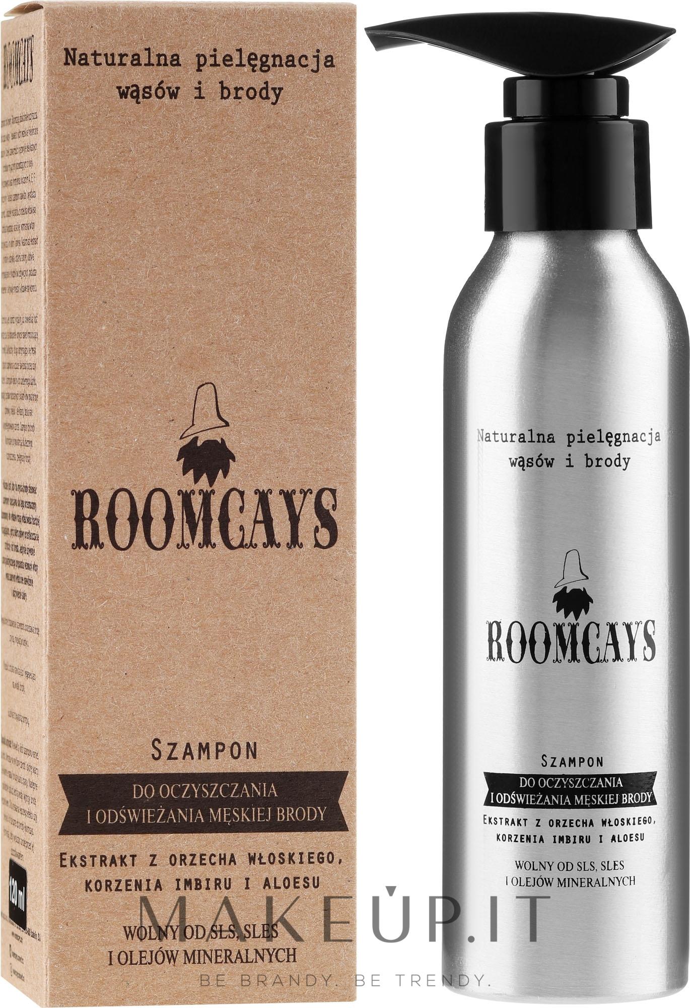 Shampoo per la pulizia della barba - Roomcays Shampoo — foto 120 ml