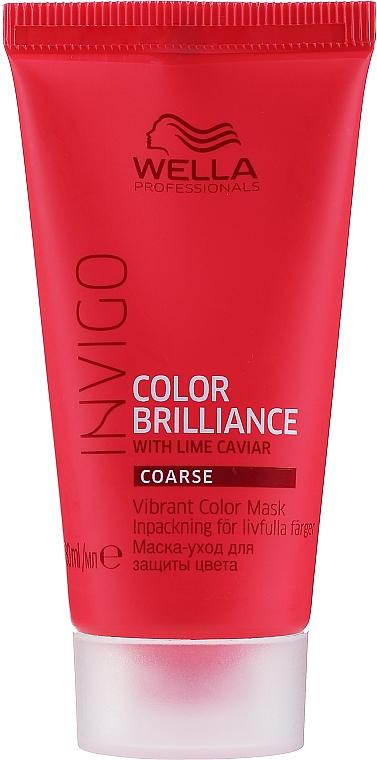 Maschera per capelli tinti - Wella Professionals Invigo Color Brilliance Vibrant Color Mask Coarse