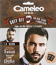 Profumi e cosmetici Colorante monouso GREY OFF per capelli, barba e baffi - Delia Cameleo Men