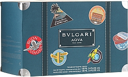 Profumi e cosmetici Bvlgari Aqva Pour Homme - Set (edt/100ml + ash/balm/100ml + bag)