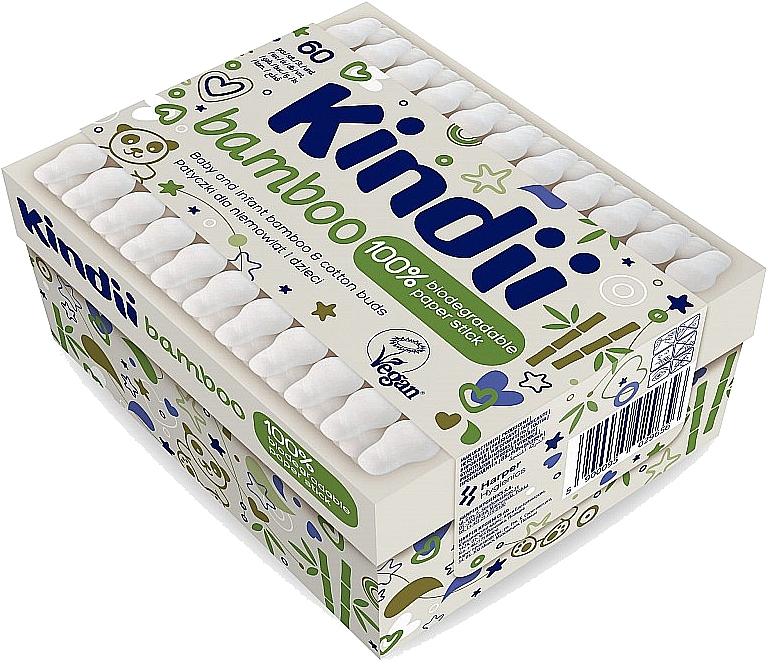 Cotton fioc per neonati e bambini - Kindii Bamboo Cotton Buds — foto N1
