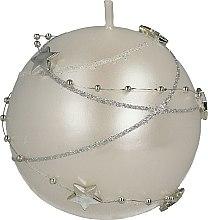 Profumi e cosmetici Candela decorativa bianca, 8cm - Artman Christmas Garland