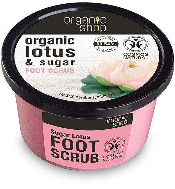 "Scrub a piedi ""Sugar lotus"" - Organic Shop Foot Scrub Organic Lotus & Sugar"