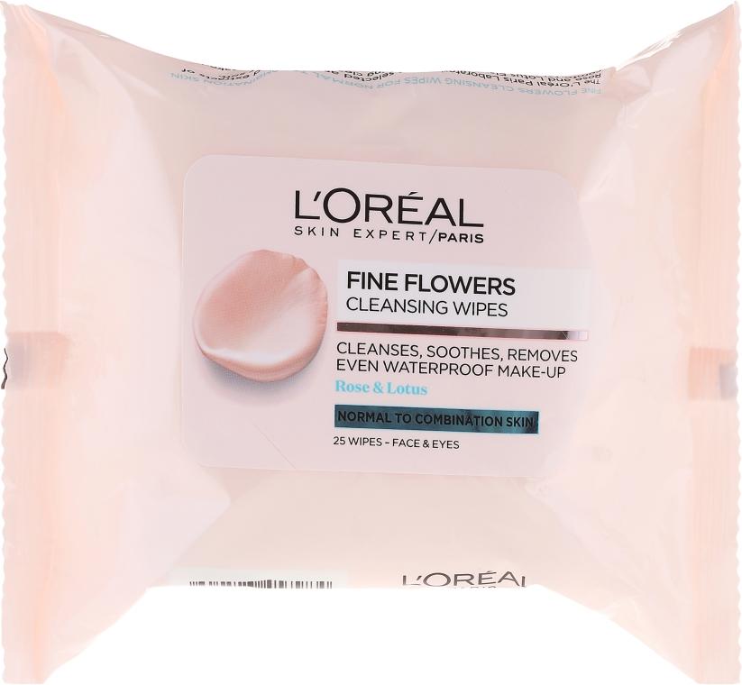 Salviette struccanti - L'Oreal Paris Skin Expert Fine Flowers Normal Combination Cleansing Wipes