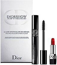Profumi e cosmetici Set - Dior Diorshow Pump 'N' Volume Mascara & Lipstick Set (mascara/6ml+lipstick/1.5g)