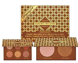 Profumi e cosmetici Set ombretti e illuminanti - Zoeva Caramel Melange Voyager (eyeshadow/6x0.9g+highlighter/2x3.2g)