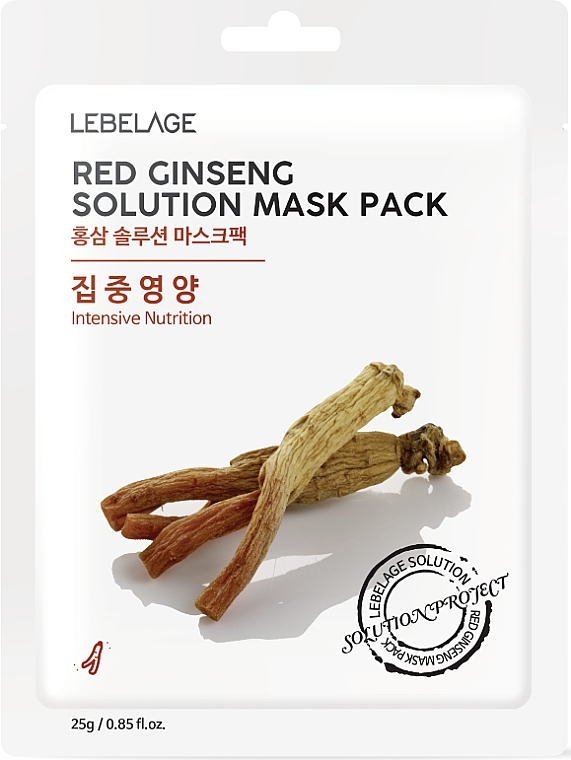Maschera viso in tessuto - Lebelage Red Ginseng Solution Mask