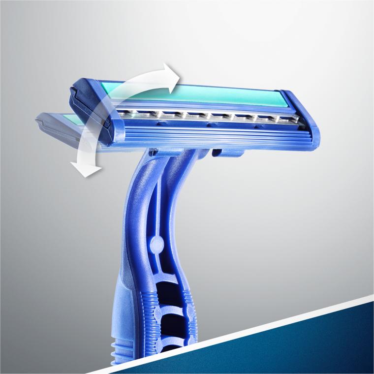 "Set rasoi ""Usa e geta"", 2pz - Gillette Blue II Plus Chromium — foto N9"