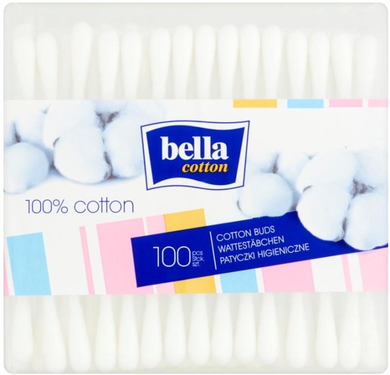 Cotton fioc rettangolari, 100 pezzi - Bella
