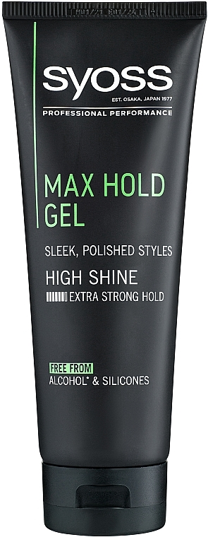 Gel per capelli, la fissazione più forte - Syoss Max Hold