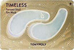 Profumi e cosmetici Patch occhi in idrogel alla bava di lumaca - Tony Moly Timeless Ferment Snail Eye Mask