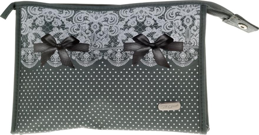 "Beauty case ""Lace-Bow"", 96082, verde - Top Choice — foto N1"