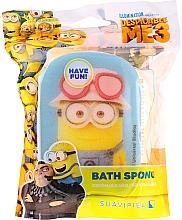 """Profumi e cosmetici Spugna da bagno per bambini """"Minions"""", gialla e blu - Suavipiel Minnioins Bath Sponge"""