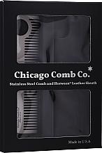 Profumi e cosmetici Spazzola per capelli - Chicago Comb Co Giftbox Model No. 1 RVS + Hoesje