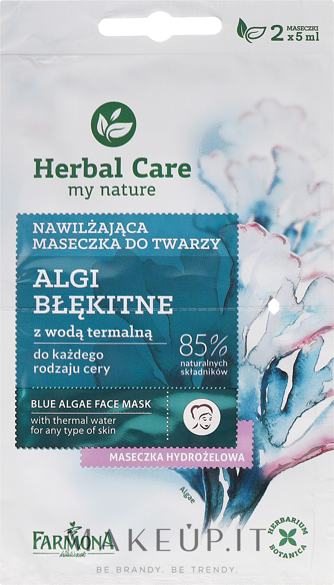 "Maschera viso ""Alghe blu"" - Farmona Herbal Care Blue Algae Face Mask — foto 2x5 ml"