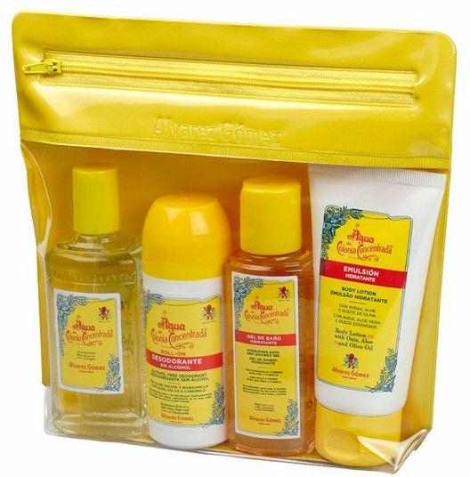 Alvarez Gomez Agua De Colonia Concentrada - Set (edc/80ml + sh/gel/90ml + b/lot/90ml + deo/75ml + bag)