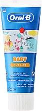Profumi e cosmetici Dentifricio per bambini 0+ - Oral-B Baby Winnie Pooh Toothpaste