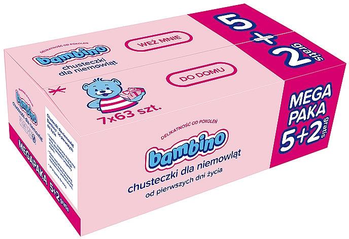 Salviettine umidificate per bambini 7x63 - Bambino Wipes