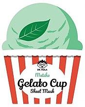 Profumi e cosmetici Maschera viso in tessuto - Dr. Mola Matcha Gelato Cup Sheet Mask