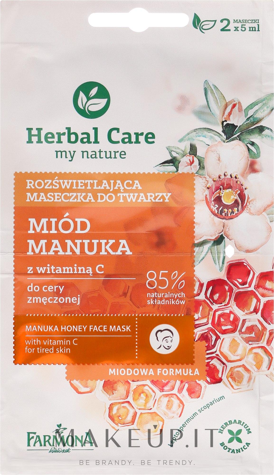 "Maschera viso ""Miele e vitamina C"" - Farmona Herbal Care Manuka Honey Face Mask — foto 2x5 ml"