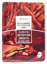 Profumi e cosmetici Maschera in tessuto a base di erbe orientali e radice di ginseng - Deoproce Color Synergy Effect Sheet Mask Brown