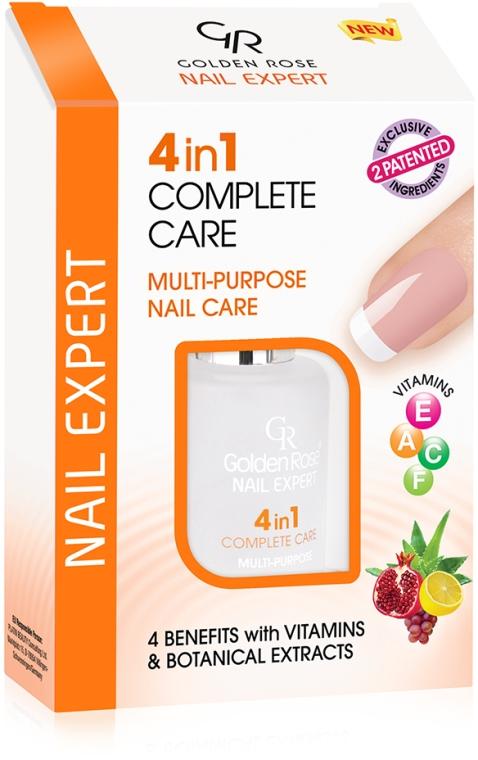 Smalto trattamento rinforzante per unghie - Golden Rose Nail Expert 4 in 1 Complete Care