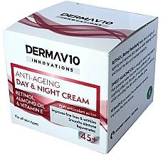 Profumi e cosmetici Crema con retinolo - Derma V10 Innovations Anti Ageing Day & Night Cream 45+