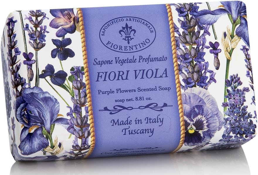 """Sapone naturale """"Fiori viola"""" - Saponificio Artigianale Fiorentino Purple Flowers Scented Soap"""