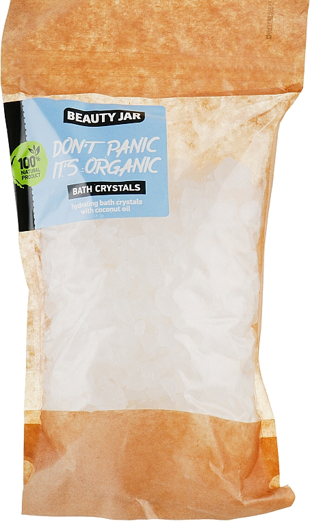 "Cristalli da bagno idratanti all'olio di cocco ""Don't Panic it's Organic"" - Beauty Jar Bath Crystals"