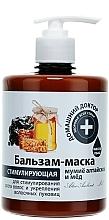 Profumi e cosmetici Balsamo-maschera con Shilajit di Altai e miele - Domashnyi Doctor