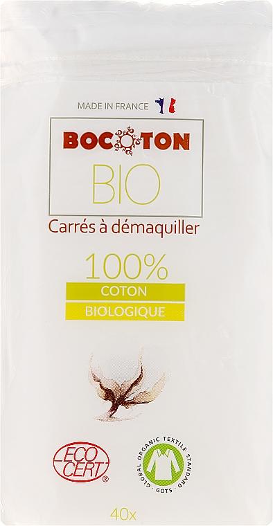 Dischetti di cotone, 75x75 mm, 40 pezzi - Bocoton — foto N1