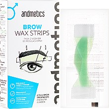 Profumi e cosmetici Set per sopracciglia - Andmetics Brow Wax Strips Men (strips/4x2pc + strips/4x2pc + wipes/4pc)