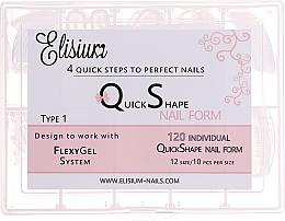 """Profumi e cosmetici Tips per unghie riutilizzabili """"Type 1"""" - Elisium"""