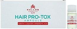 Profumi e cosmetici Fiale per capelli deboli e danneggiati - Kallos Cosmetics Pro-Tox Hair Ampoule