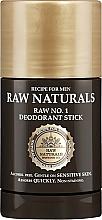 Profumi e cosmetici Deodorante-stick - Recipe For Men RAW Naturals No. 1 Deodorant Stick