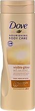 Profumi e cosmetici Lozione corpo abbronzante - Dove Visible Glow Gradual Self-Tan Lotion Fair-Medium Skin