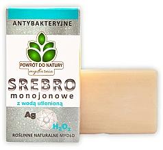 """Profumi e cosmetici Sapone naturale """"Argento monoico e perossido d'idrogeno"""" - Powrot do Natury Natural Soap Matt Silver and Hydrogen Peroxide"""