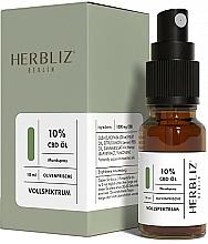 """Profumi e cosmetici Olio-spray collutorio """"Oliva"""" 10% - Herbliz CBD Olive Fresh Oil Mouth Spray 10%"""