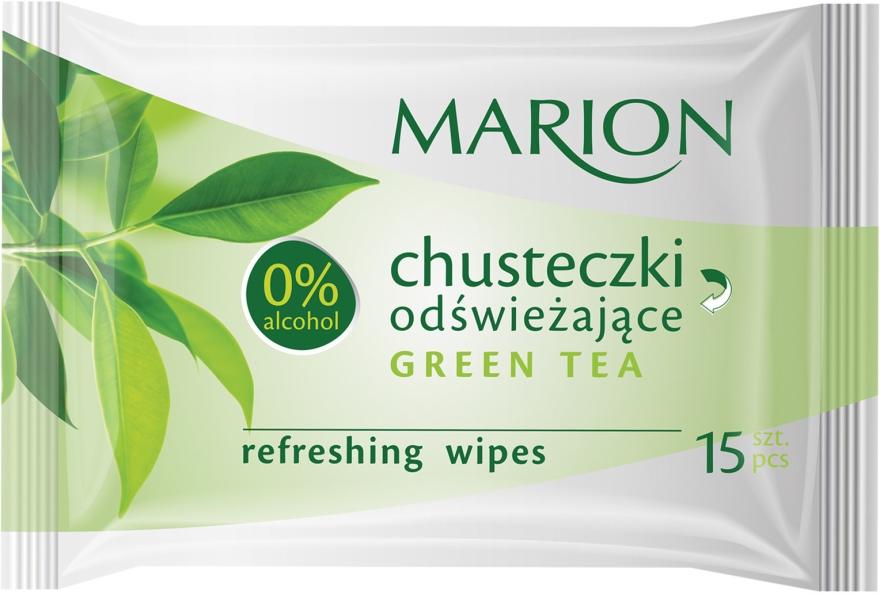 """Salviette rinfrescanti """"Green Tea"""", 15 pz - Marion"""