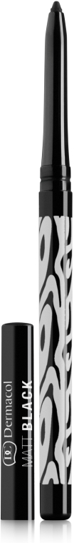 Matita occhi opaca - Dermacol Make-Up Black Sensation Matt black (01-black)