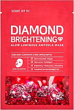 Profumi e cosmetici Maschera illuminante in fiale con polvere di diamante - Some By Mi Diamond Brightening Calming Glow Luminous Ampoule Mask