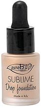 Profumi e cosmetici Fondotinta liquido - PuroBio Sublime Drop Foundation