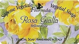 "Profumi e cosmetici Sapone naturale ""Rosa gialla"" - Florinda Sapone Vegetal Soap Yellow Rose"